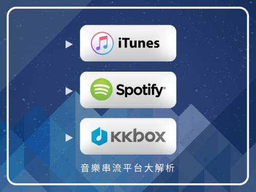 音樂串流平台KKBOX、Spotify與Apple Music大解析